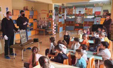 """С урок за Руско-турската война """"Музей в куфар""""  гостува в Детска градина """"Соня"""""""