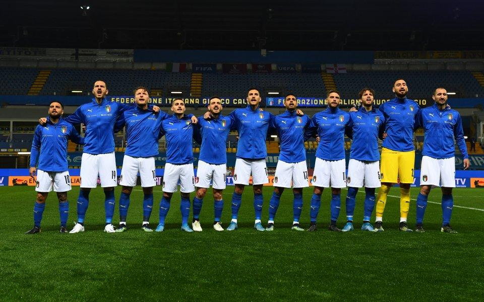 Италианският национален отбор пристигна в София