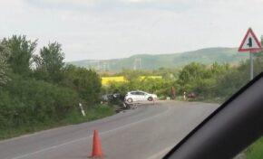 Катастрофа между два леки автомобила затруднява движението между Ресен и Самоводене (СНИМКИ)