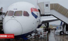 """Инцидент със самолет на лондонското летище """"Хийтроу"""""""