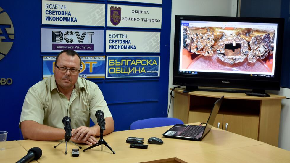 Болярски златни накити са открити в Южния сектор на хълма Трапезица