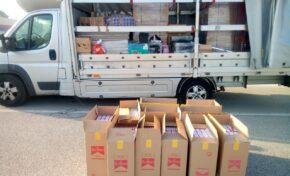 Митническо куче надуши 6150 кутии цигари, скрити в палети с дограма за Франция