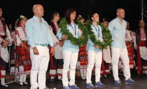 Плевен посрещна с грандиозно тържество олимпийските шампионки  Ивет Горанова и Стойка Кръстева