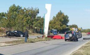 Катастрофа възпрепятства движението на околовръстния път край Лясковец